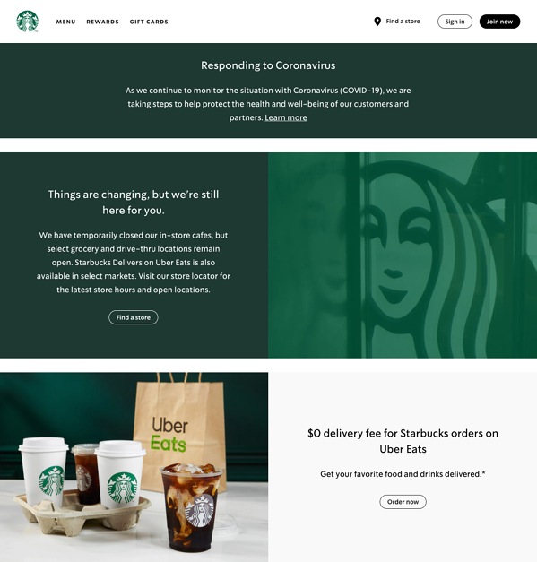 Starbuck website