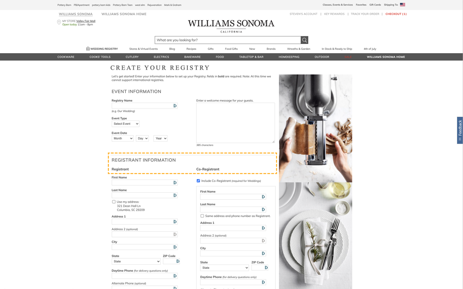 williams sonoma screen shot-1